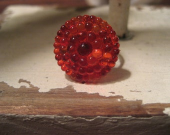 Red Nubby Ring