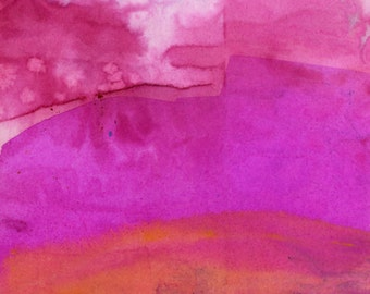"Pink Abstract Watercolor Painting, art, Original abstract watercolor art ooak painting""Abstract Series 121"" by Kathy Morton Stanion  EBSQ"