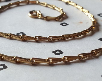 Gold Plated Vintage Chain with Clasp 24''
