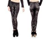 Void printed wearable art leggings from Alien Botany