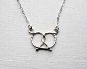 Handmade Sterling Silver Pretzel Necklace