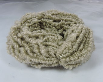 Hand Spun Novelty Art Yarn Elastic Yarn Kid Mohair Merino Natural Colored Vanilla 16-4-32