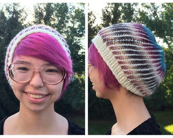 Chemo Hat in Natural Berry