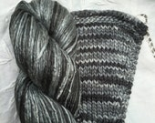 Silk Yarn Worsted weight Hand Dyed  - Graphite