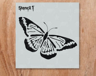 """Butterfly Stencil- Reusable Craft & DIY STencils-  S1_01_79_S -Small-(5.75""""x6"""")- By Stencil1"""