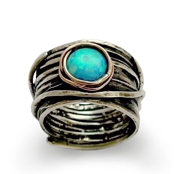 Like this item Opal ring Silver wedding ring silver engagement ring gypsy. Hippie Wedding Rings. Home Design Ideas