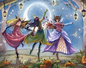 Halloween Art Print - Moon Dance