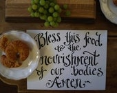 Saying Grace Placemats - disposable paper