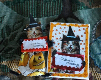 Halloween Cat ornament and Artist Trading Card