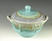 Casseroles (Two Quart)- turquoise Great wedding gift - wheel thrown stoneware pottery