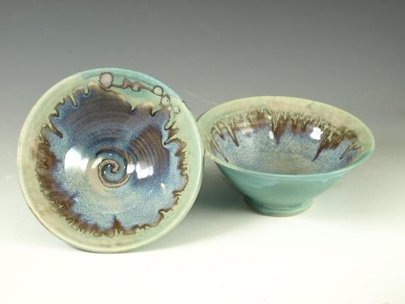 Pair of Rice bowls- wheel thrown stoneware