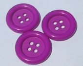 RESERVED for GrammaLea 6 jumbo purple/green round plastic buttons new destash supplies for crafting and sewing