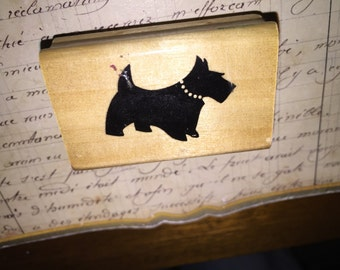 Anita's Scottie Dog Rubber Stamp