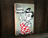 Big Boy Art Painting on Canvas Pop Art Style Original Artwork Stencil Urban Street Bob's Big Boy