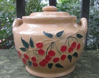 Vintage Pottery/ Stoneware Cookie Jar - 1940s