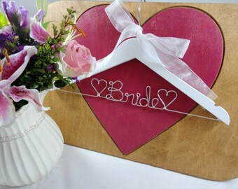 Bridal Wire Hangers Bride Hangers Wedding Dress Hangers Bridal Accessories Bride Coat Hangers Personalized Hangers