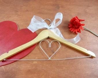 Bridal Dress Hanger - Shower Bridal - Bridal Wedding Favor - Bridesmaid Gift - Photo Prop - Bridal Gown Hanger - Clothes Hanger - Bride Gift