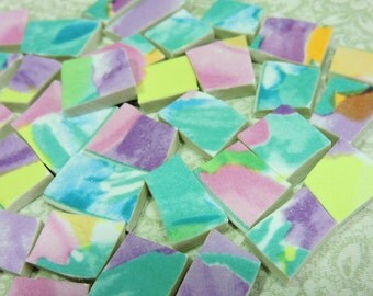 China Mosaic Tiles - SPLaSHeS oF CoLOR - Broken Plate Mosaic Tiles
