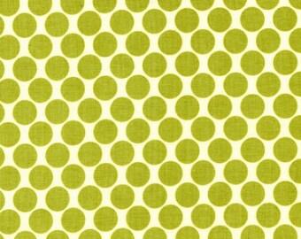Full Moon Lime - Lotus - Amy Butler - FreeSpirit - Polka Dots Green White