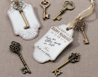 Bronze Key Tags Guest Sign in book Wedding Reception Alternative Sign in Book