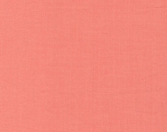 Coral Cirrus Solids Cloud 9 organic cotton quilt fabric peach pink