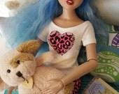 "PINK LEOPARD PJs set for Agatha Primrose 13"" Tonner fashion body"