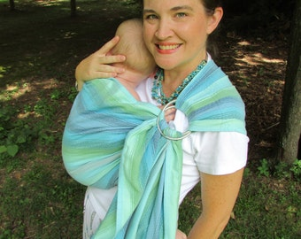 WCRS- Girasol Wrap Conversion Ring Sling Primavera Pleated Shoulder - Diamondweave, DVD included, baby, toddler, baby shower gift