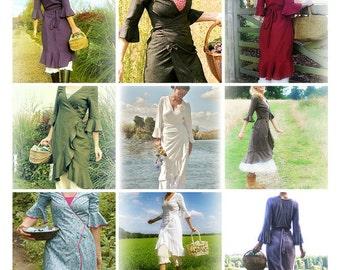 Verity Hope Linen Wrap Dress downloadable sewing pattern