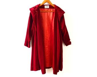 Vintage Red Velvet Opera Jacket xs