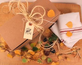 Lemon Bird Gift Box Wrapping