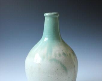 Vintage Chinese celadon green porcelain crackle vase