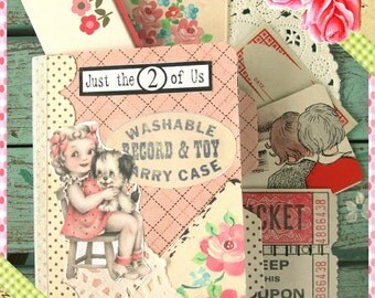 Best Friends Journal, Friends Junk Journal, Smash Book, Ephemera, Papers, Junk Journal...Mini Smash Journal Friends