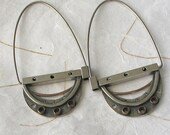 Sterling  14k goldfill Large Hoop earring