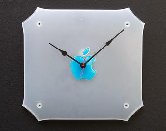 Clock made from a Mac G3 side cover