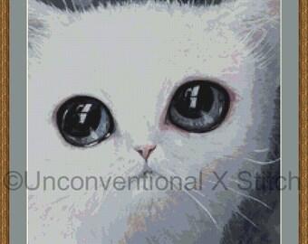 Cat cross stitch pattern - Wet cat a lolcats hell mini cross stitch pattern
