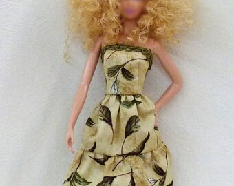 "Green 11.5"" fashion Doll Dress Handmade"