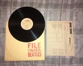 BEATLES File Under: Vintage Vinyl Record 1980 LP Album