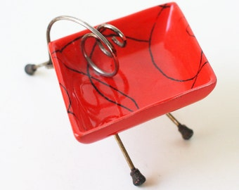 Mid Century Modern Tripod Ashtray