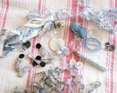 Once in a Blue Moon...Vintage Tatted Trims, Buttons, Notions, & Found Goodies