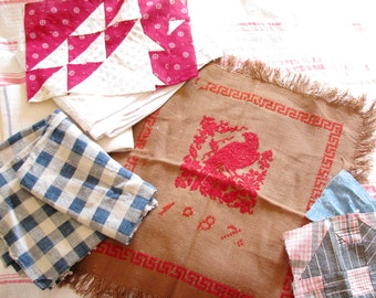 Rag Bag Girls Unite...Antique Needlework, Quilt Blocks, & Homespun