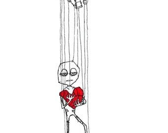 The Puppet - Print of original illustraion by seth.
