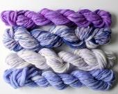 weaving creative yarn bundle, hand spun, hand dyed yarn, handspun art yarn, yarn set ... sarsparilla