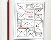Valentines Day Card  - Valentine - Love Card - Sending My Love to You - Long Distance Love - Valentine Card - Sweetest Day - Thinking of You