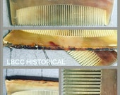 """Fine Toothed  6.5"""" Historical Horn Comb"""