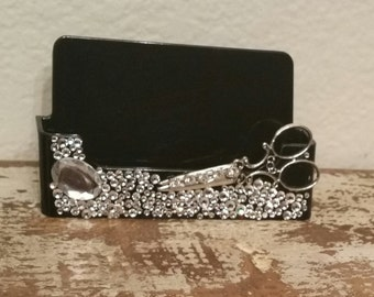 Shear Bling/HairStylist Business Card Holder