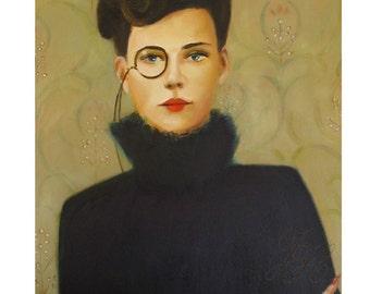 Molly Monocle.  Art Print
