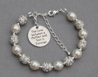 Mother Son Gift, Mother Son Jewelry, Son to Mom Gift, Birthday Gift for Mom, Moms Birthday, Mom Jewelry, Mother Son Bracelet, New Mom Gift