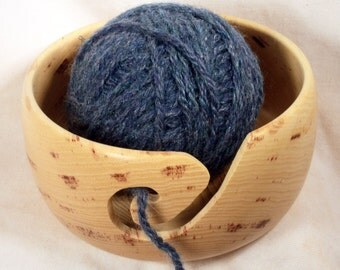 Handmade Hickory Wooden Yarn Bowl - Orders Being Taken