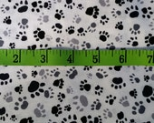 Animal Paw Prints Cotton Quilting Fabric, Cats Dogs 1 Yard +