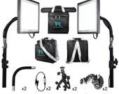 The Makeup Light Master Key Kit Black or White LED Portable Lighting No Mirror or Vanity